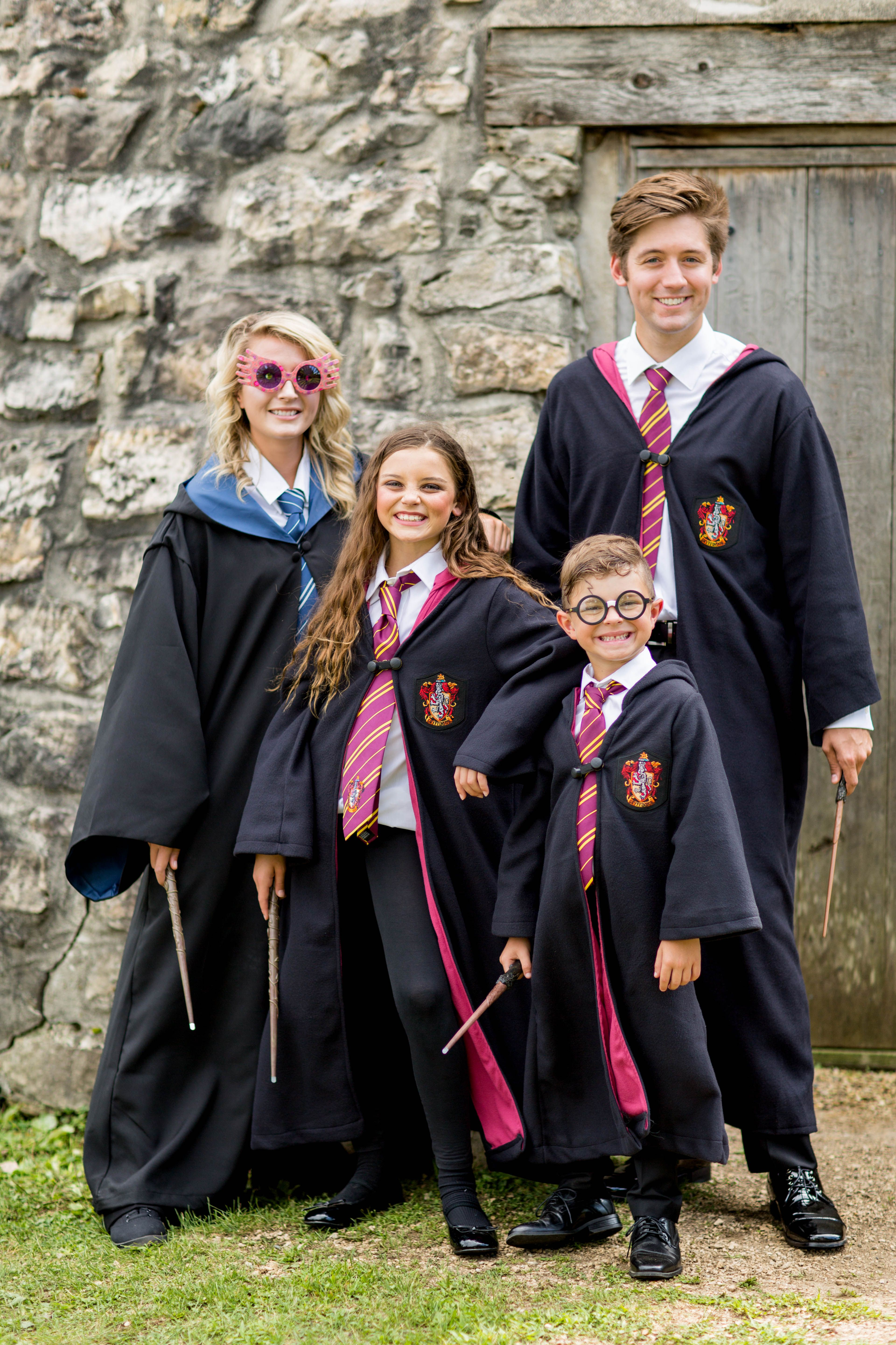 Group/Family Halloween costume ideas- Join the world of witchcraft and wizardry and dress the whole family up as your favorite character from the film Harry Potter this Halloween! We've got robes for every wizard, big and small!