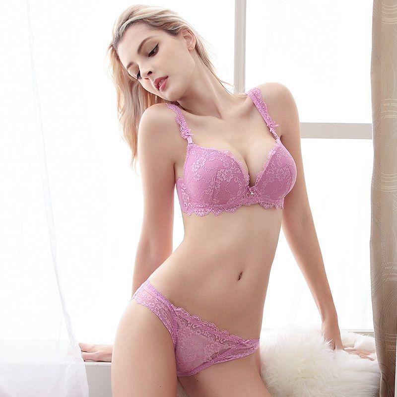 5204cd4aa8 2016 Sexy Purple Lace Lingerie Bra Sets Women s Underwear