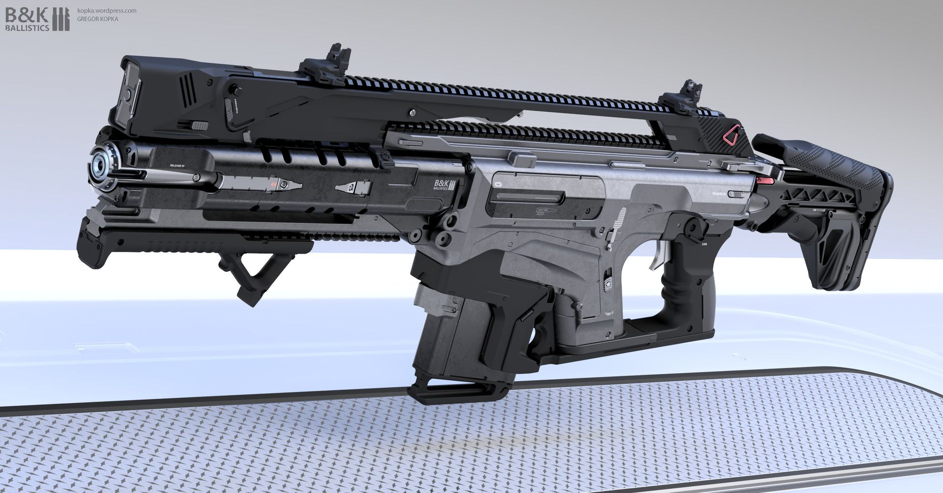 artstation assault rifle concept gregor kopka guns