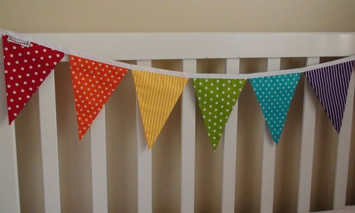 Rainbow Bunting (Party decoration Bedroom Flags Banner) | JOY SISTERS | madeit.com.au