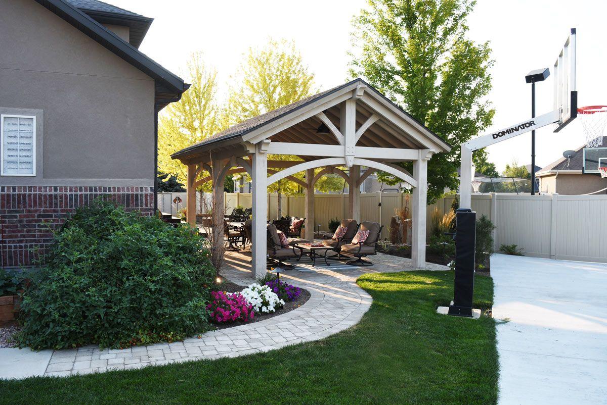 Resawn Timber 6 Post DIY Pavilion Olde Wood Stain   Timber ...