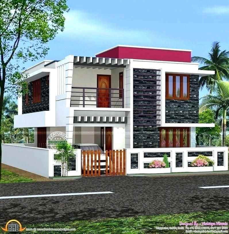 Home Design Exterior Duplex House Designs Color Outside Small