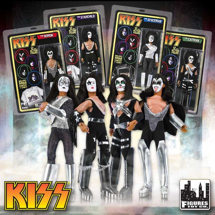 Kiss 8 Action Figures Series 1 Complete Set Of All 4 Kiss
