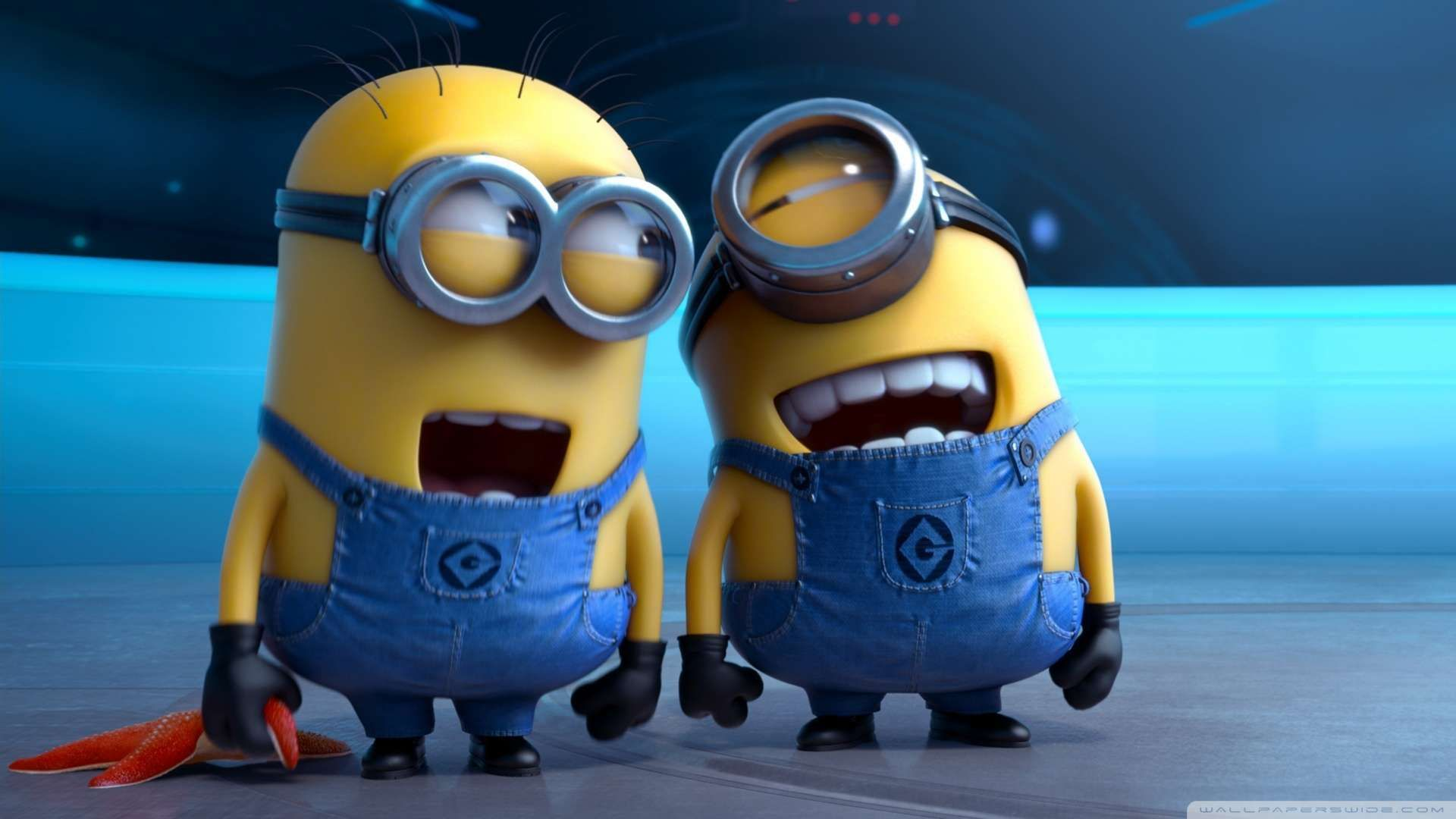Despicable Me 2 Laughing Minions Wallpaper 1080p Hd Funny Minion Pictures Minions Minion Pictures