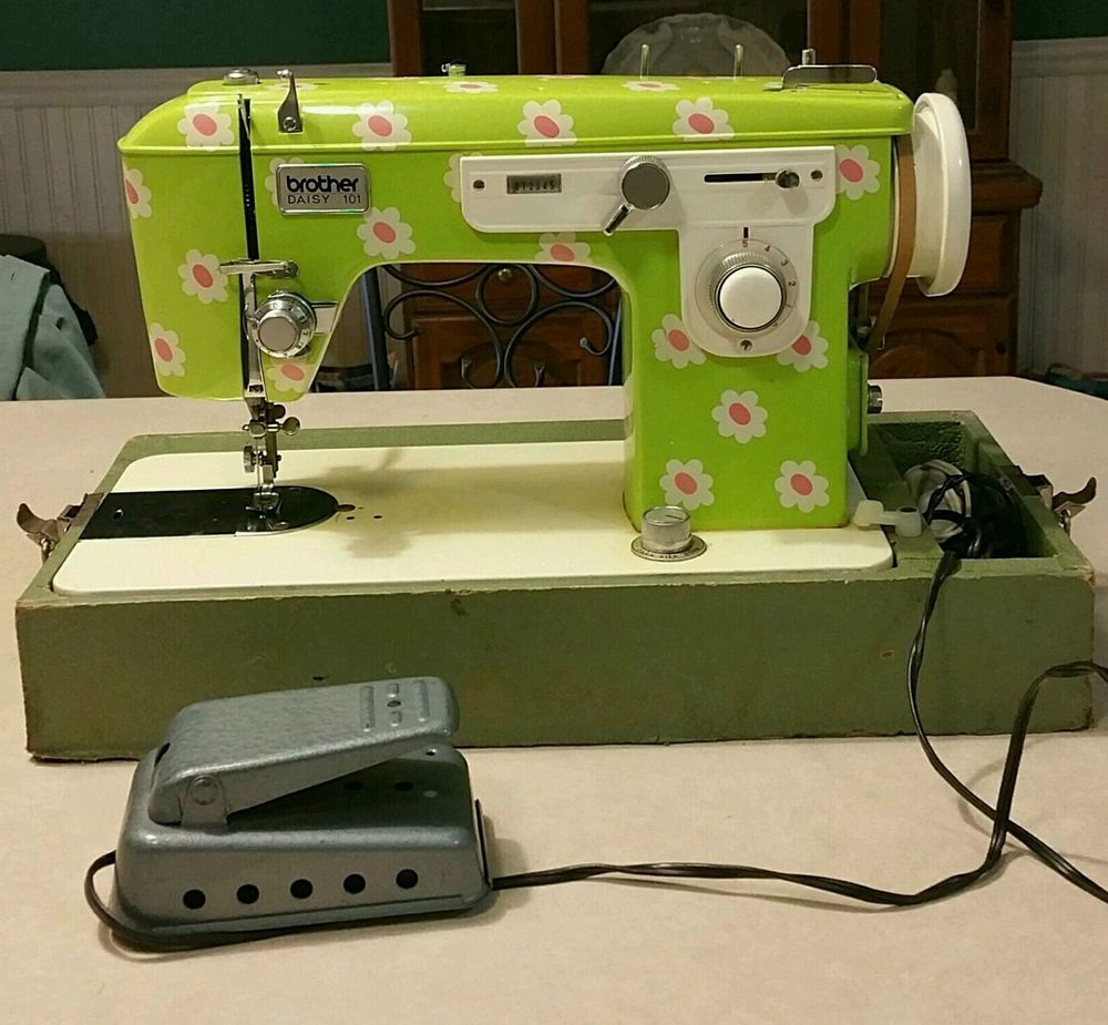 Vintage/Rare Brother Daisy 101 Portable Sewing Machine ...