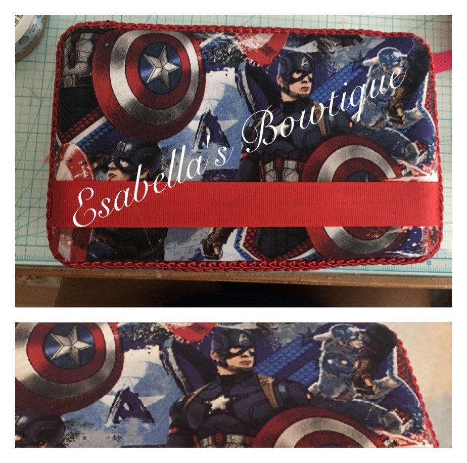 Captain America custom pencil box;custom pencil box;pencil boxes by EsabellasBowtique on Etsy