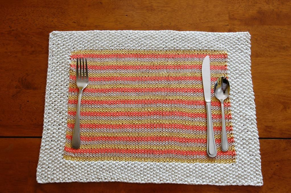 Knitted Placemats For Your Kitchen Table Craftsy Placemat