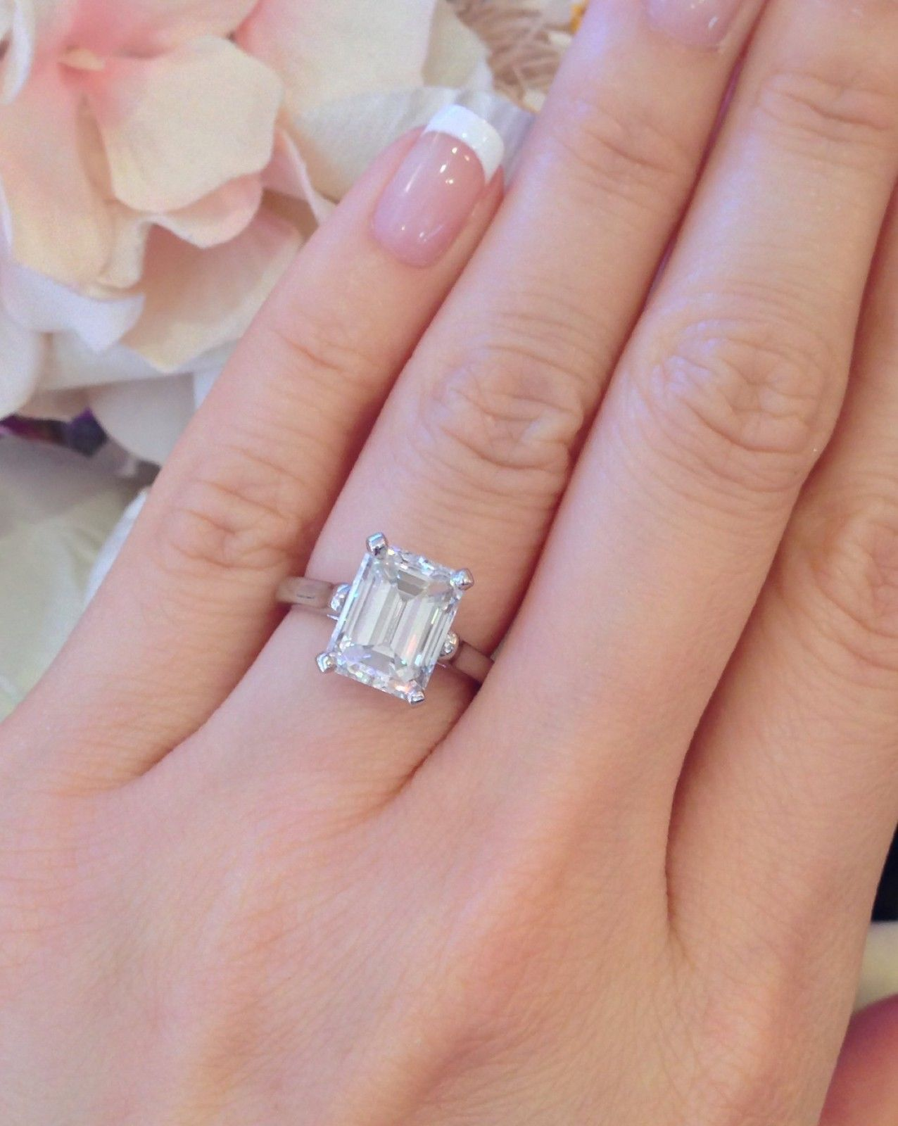 · Tiffany & Co 3.86 ct GIA VS2-G Emerald Cut Platinum Diamond ...
