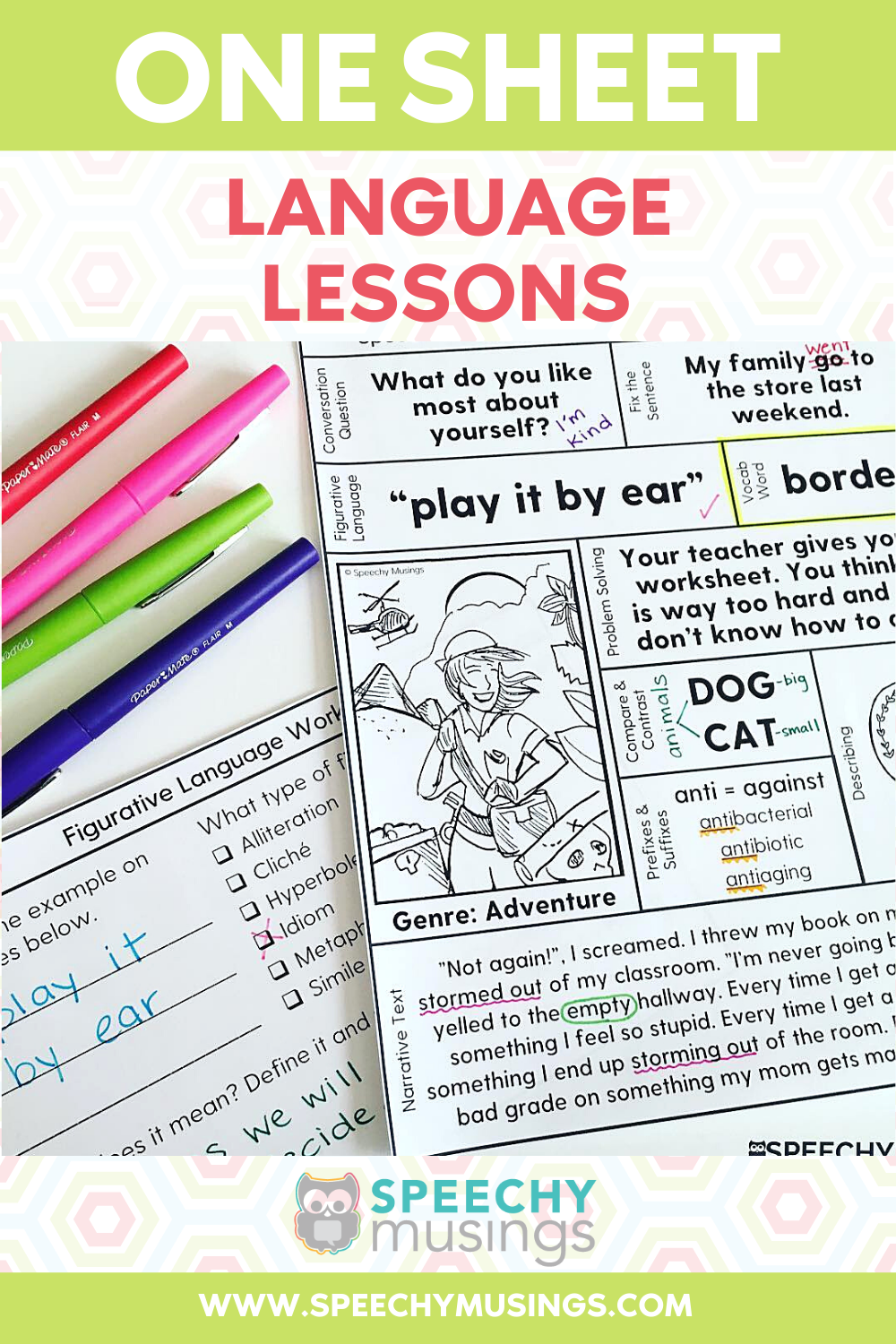 Speech Language Therapy Worksheets Speech And Language Language Lessons School Speech Therapy [ 1500 x 1000 Pixel ]