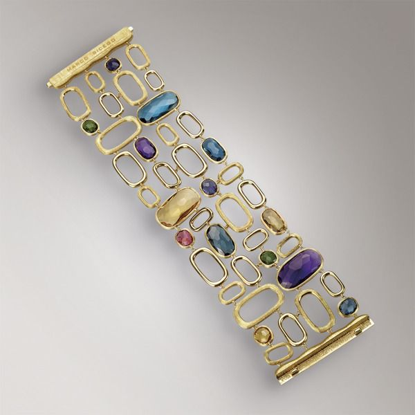 Bracelets - Yellow gold - colored gemstones -  BB1697 MIX300