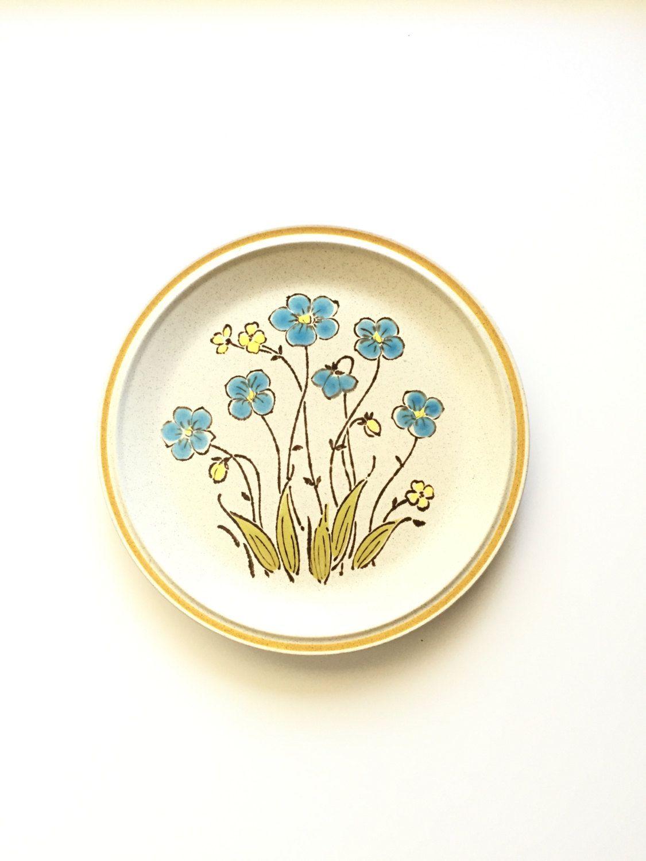 Vintage Hearthside Stoneware Dinner Plate / Highland Flowers ...