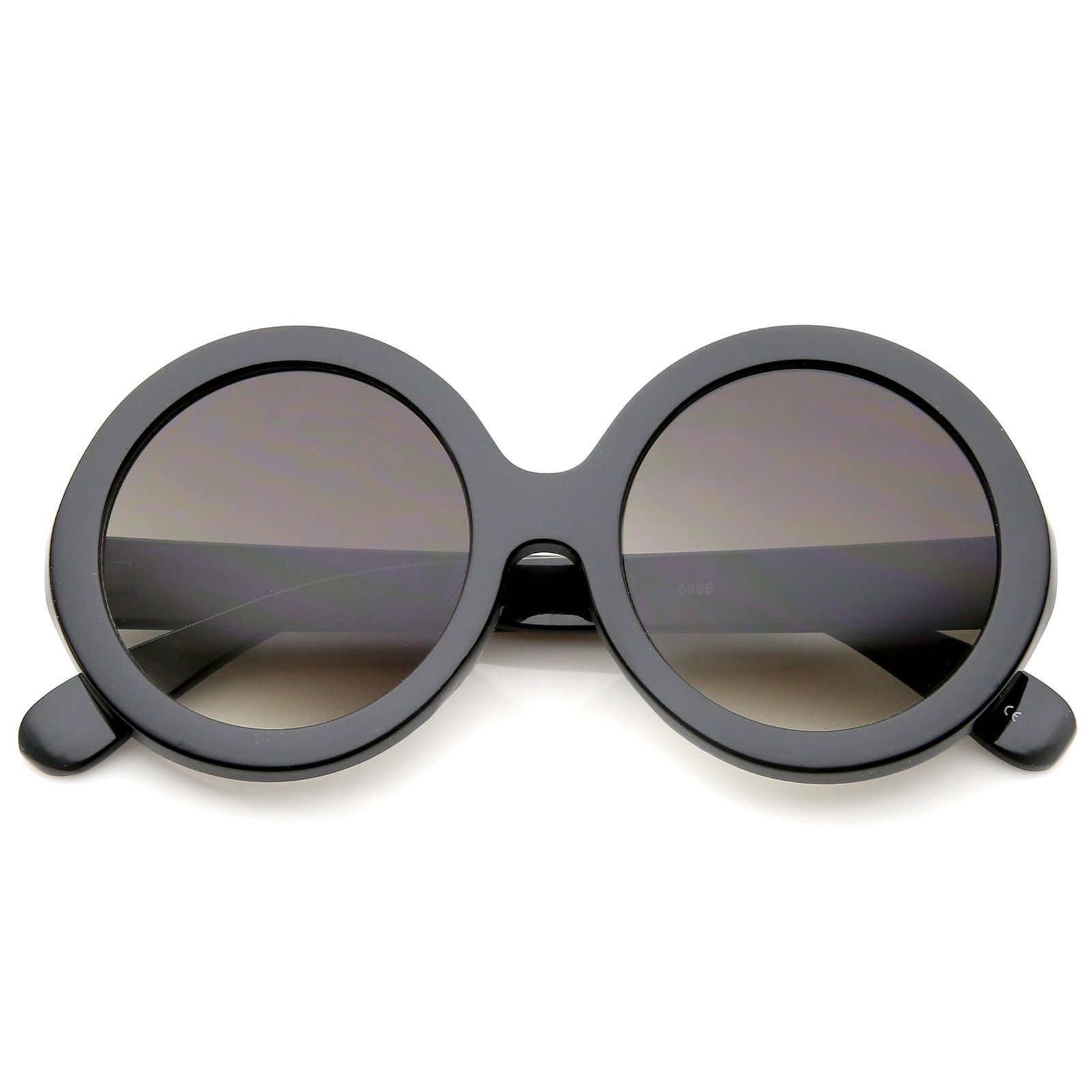 51ae2cc1d Retro Chunky Frame Tinted Lens Oversize Round Sunglasses 53mm #sunglass # sunglasses #bold #frame #sunglassla #mirrored #summer #oversized #clear  #womens