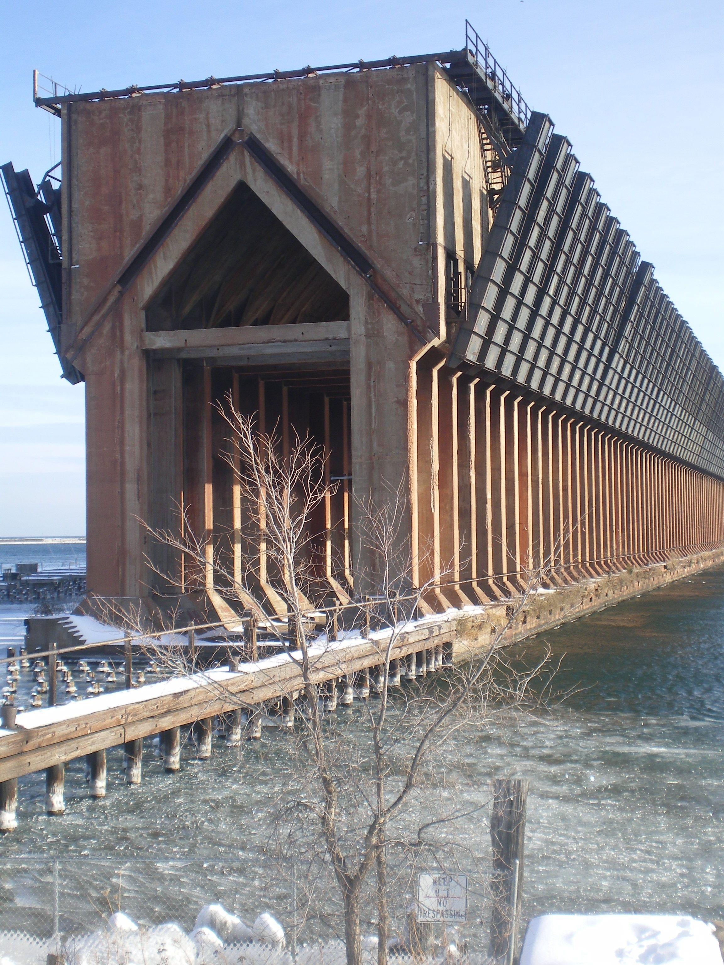 Old Ore Dock, lake Superior in Marquette Michigan.