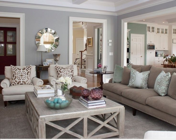 Pillows Cream And Blue Living Room1 How To Make Your Home Look Like You Hired