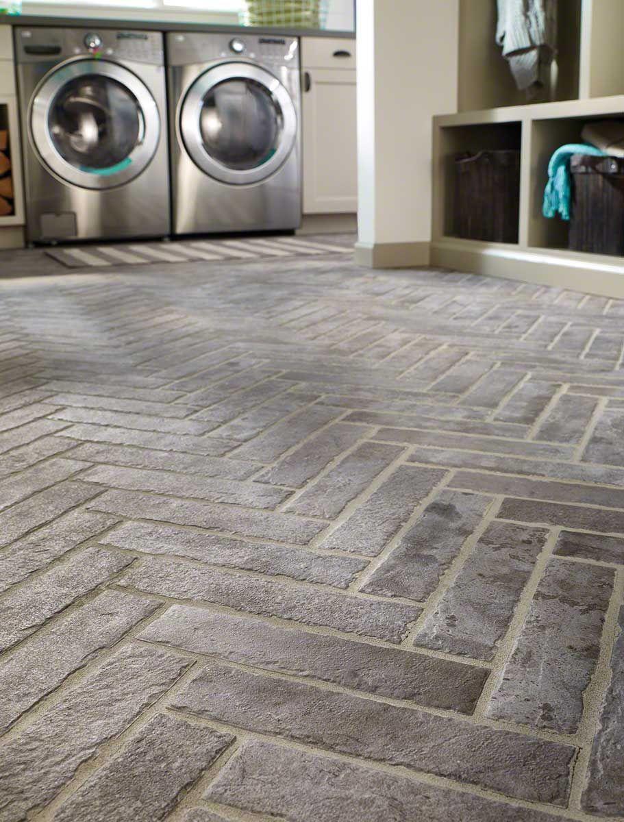 Taupe Porcelain Tile Brick Flooring