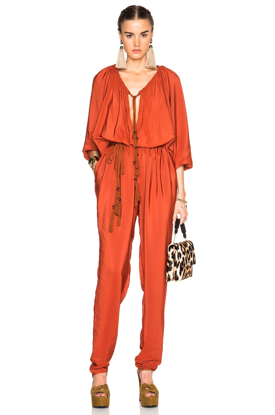 11c2cec3355 Image 1 of Lanvin Jumpsuit in Ginger Red