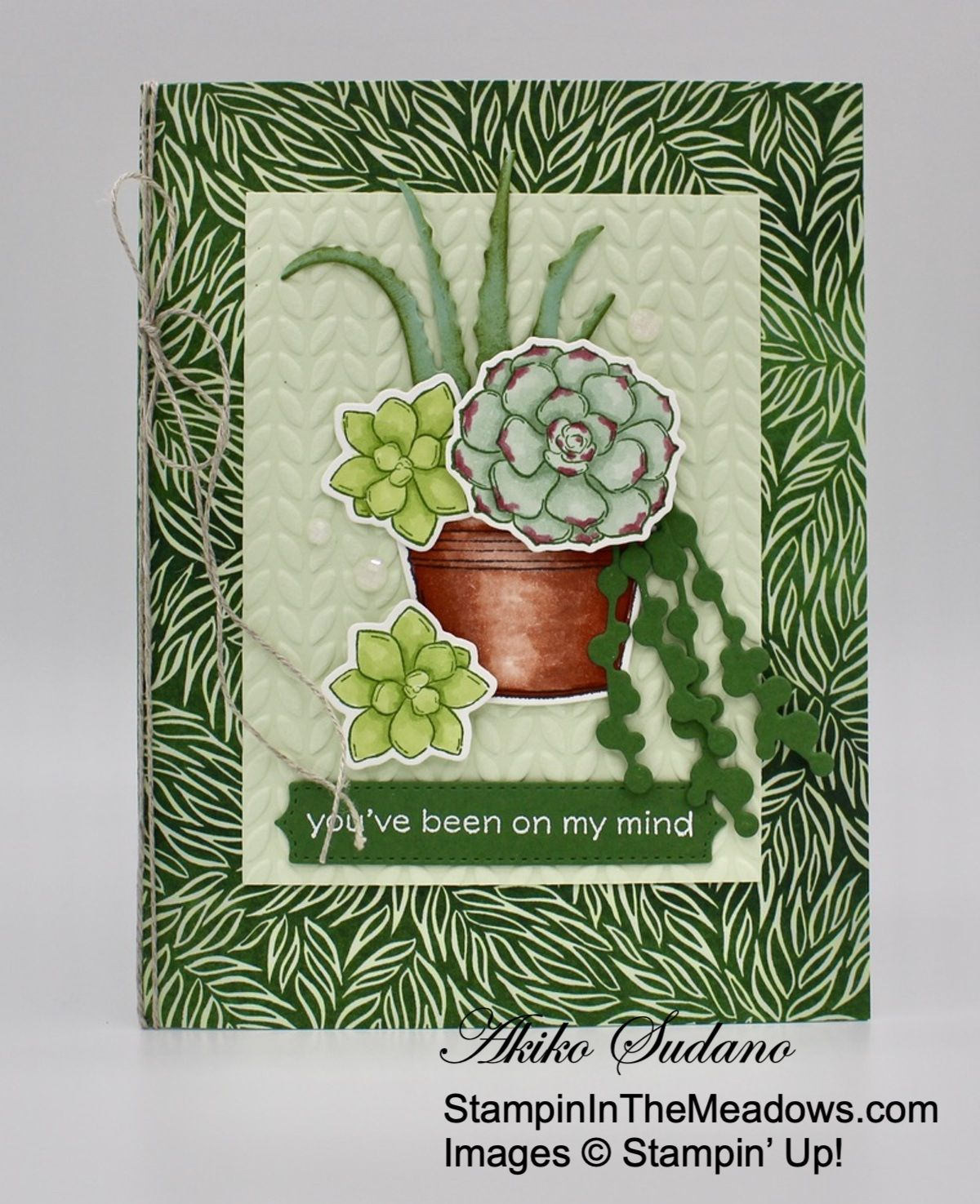 Stampin' Up! Simply Succulents Card