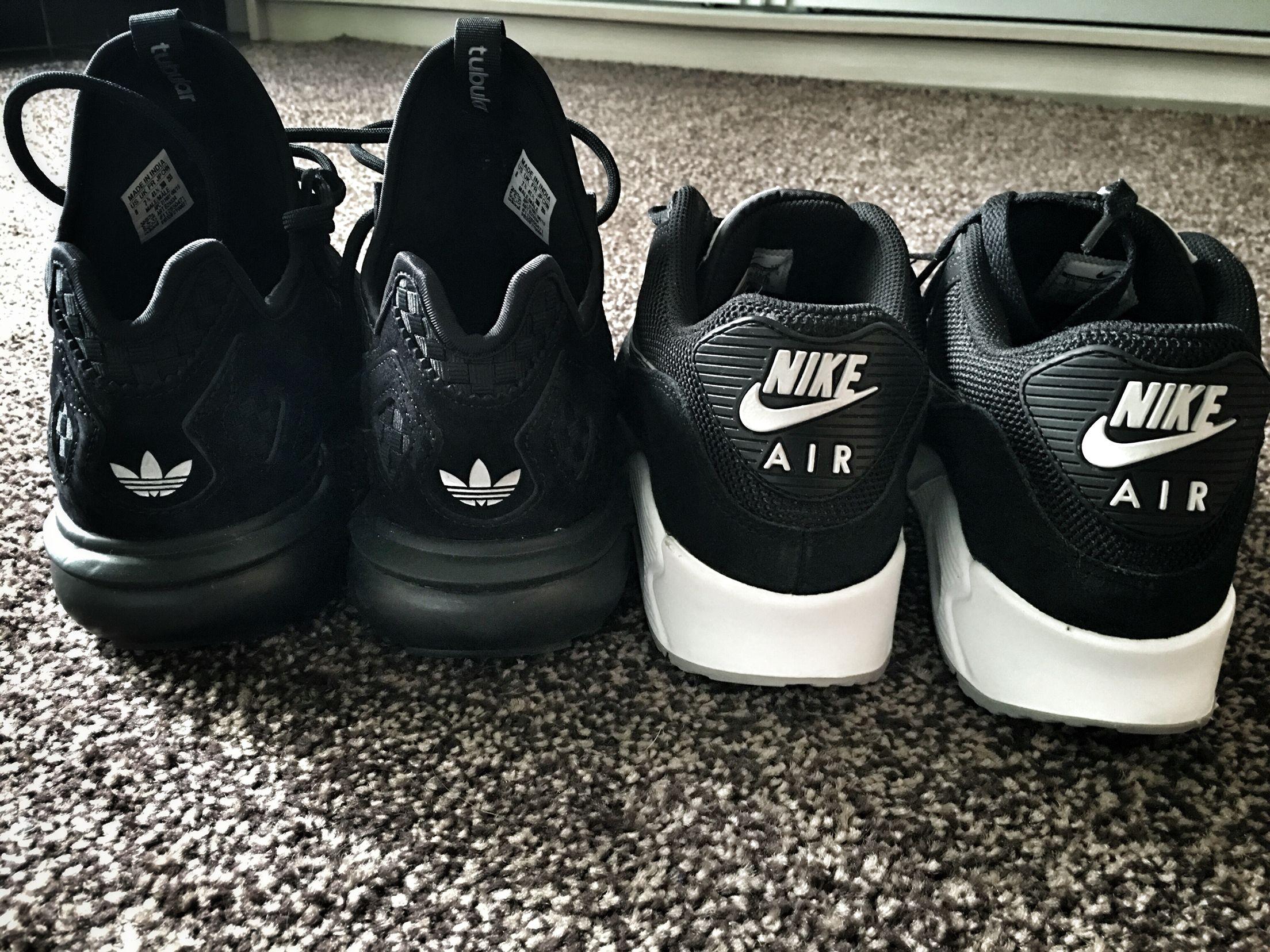 nike vs adidas sneakers