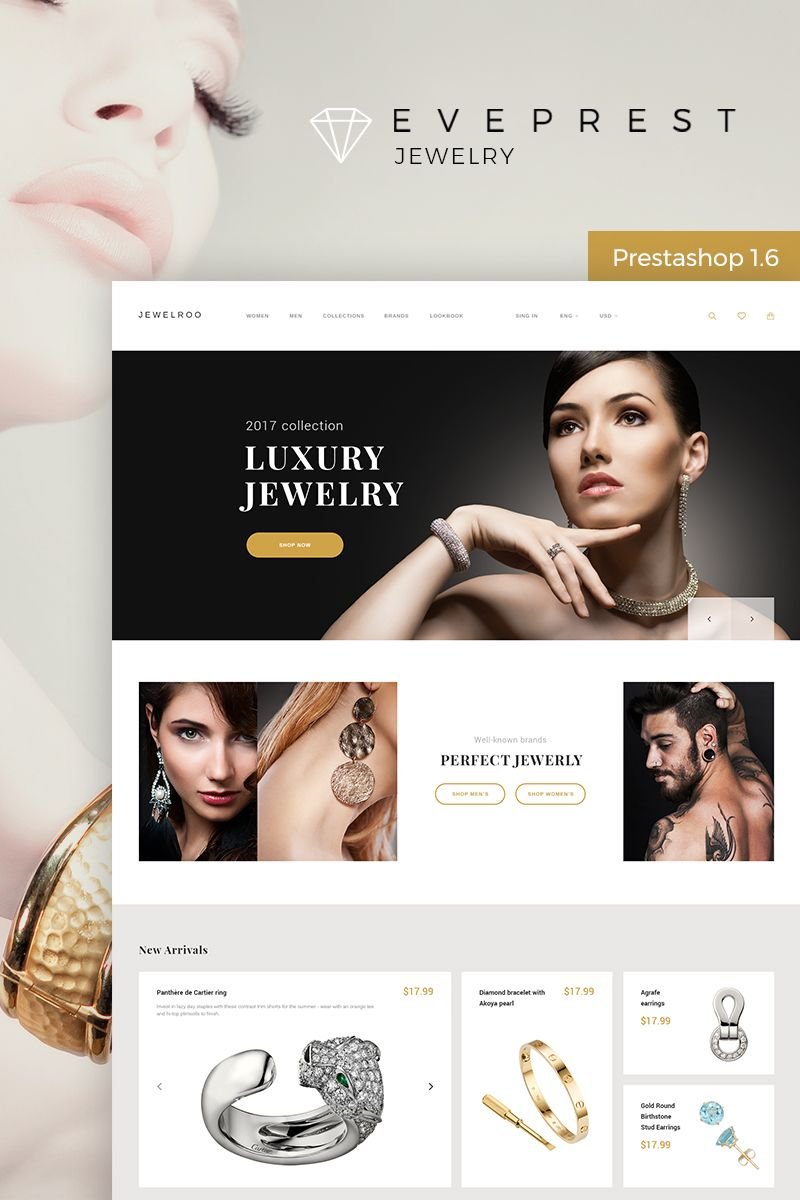 Eveprest - Jewelry PrestaShop Theme Big Screenshot