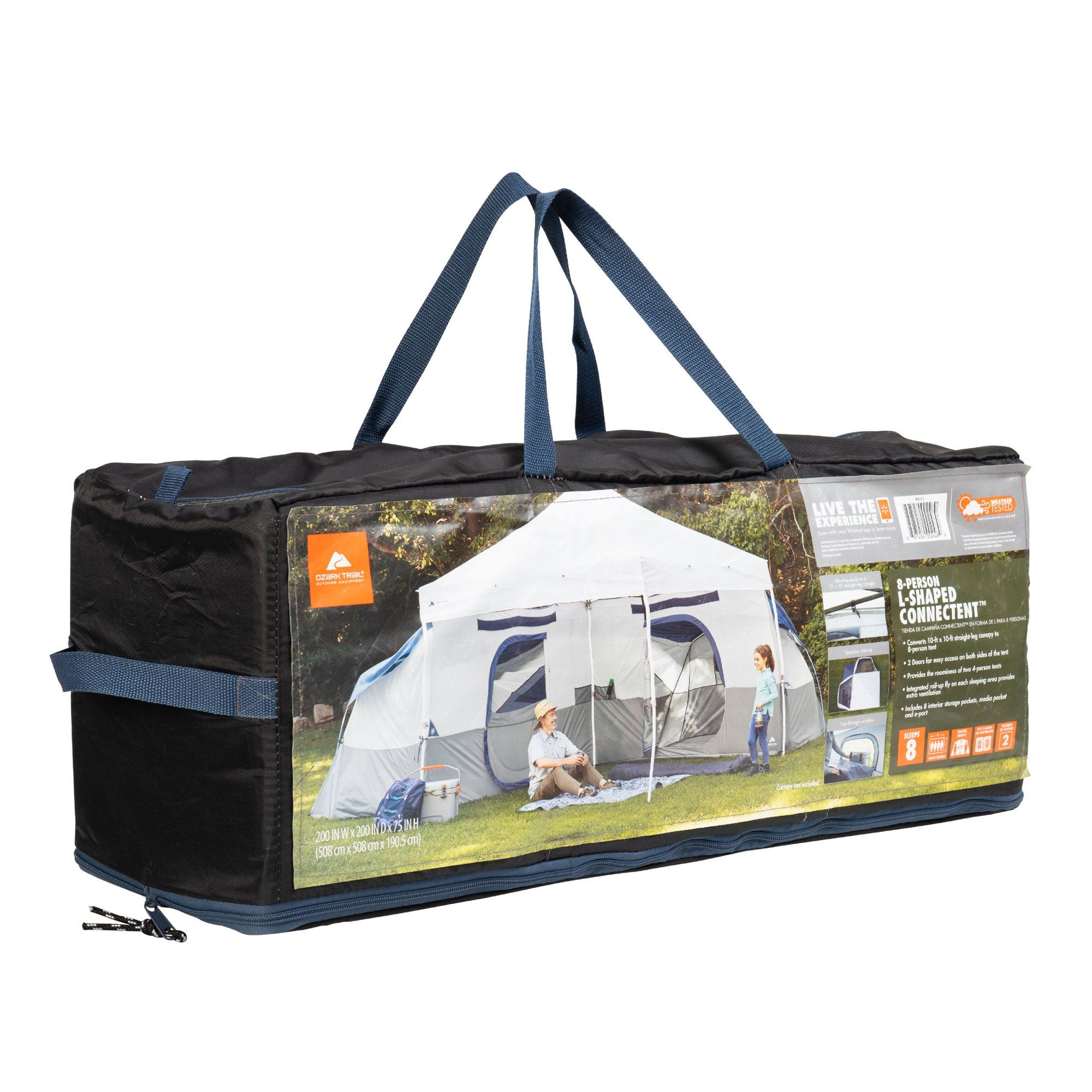 Ozark Trail 8 Person Connect Tent Straight Leg Canopy Sold Separately Walmart Com In 2021 Ozark Tent Weights Tent