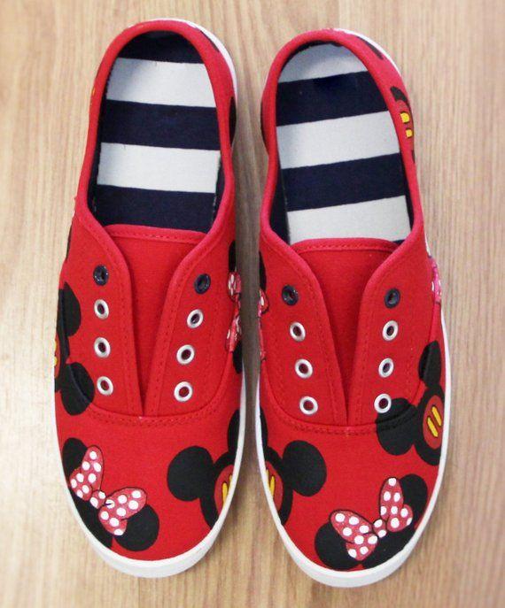 b0996aac9c2d8 MICKEY MOUSE and MINNIE heads bow Disney Park Custom Disney hand ...