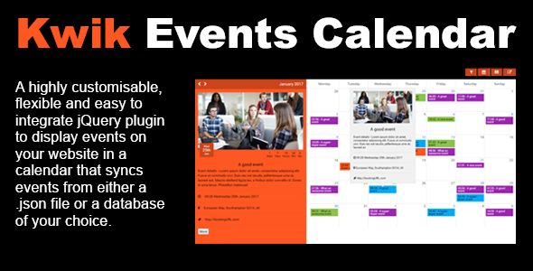 Kwik Event Calendar Kwik Event Calendar Is An Flexible And Easy To