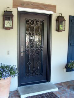 Image result for single wrought iron entry door images | Front ...