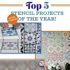 Learn great stenciling techniques from basics to advanced and from walls to fabric to furniture! We will show you how to use various tools and the industry's best tips!