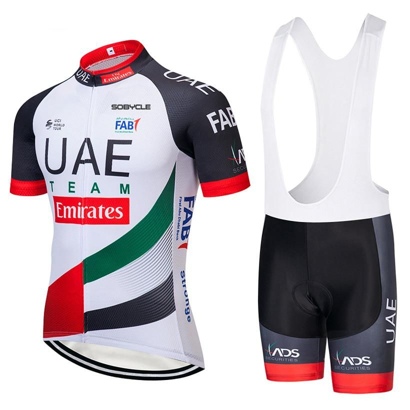 2018 Team UAE cycling jersey gel bike shorts ropa ciclismo mens summer  quick dry PRO BICYCLING Maillot Culotte clothing. Yesterday s price  US   32.80 (28.75 ... 8011148e3