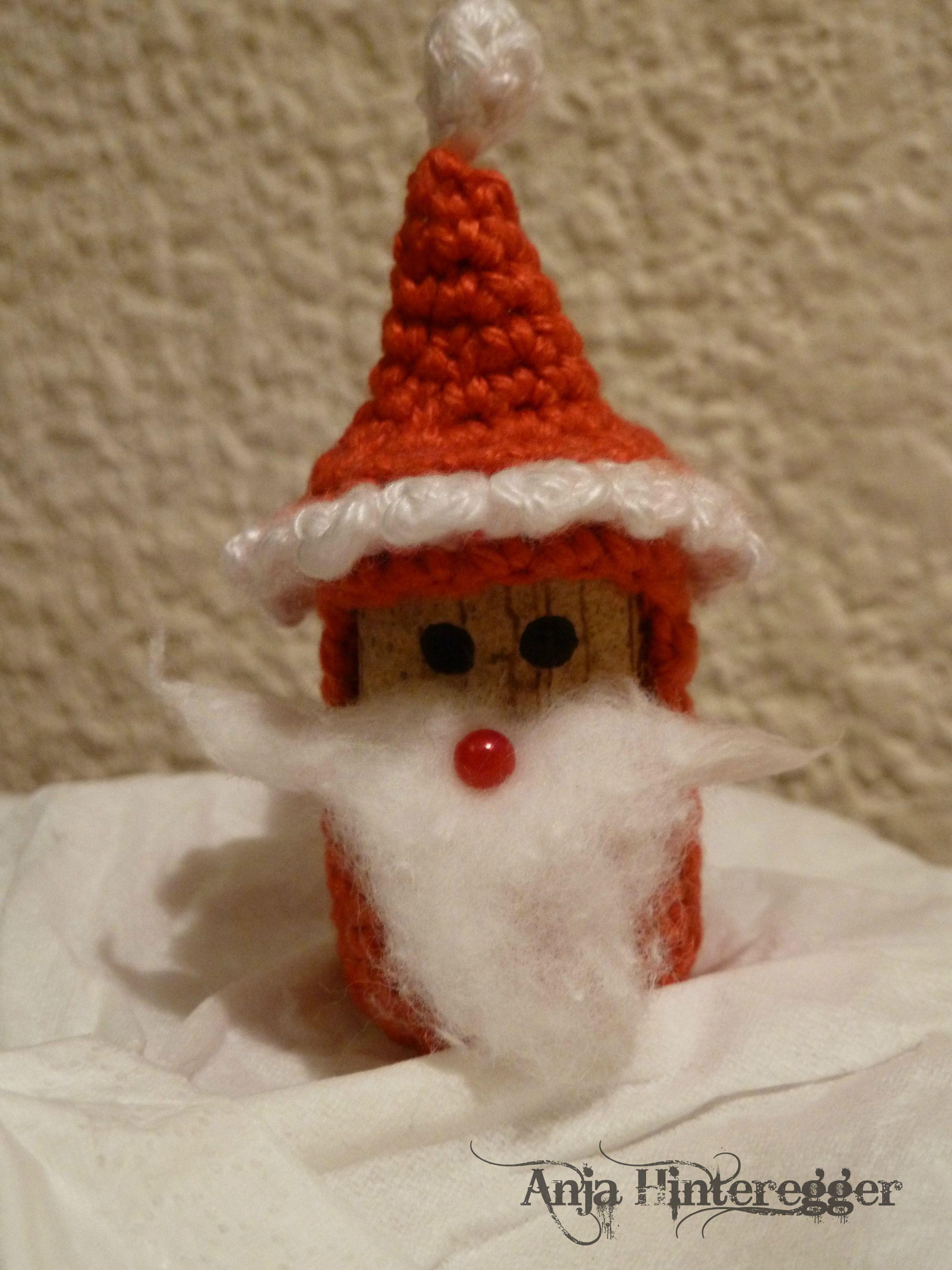 Korken-Nikolaus | Crochet / Häkeln | Pinterest | Korken, Nikolaus ...