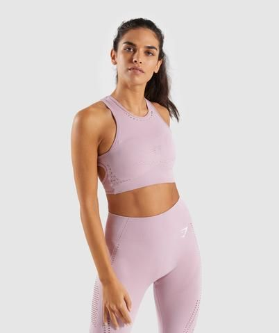 91896042f8b81 Gymshark Flawless Knit Sports Bra - Washed Lavender in 2019 ...