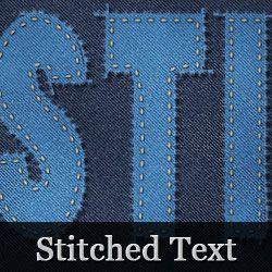 Photoshop Stitch Text | Photoshop Text Effects | Photoshop