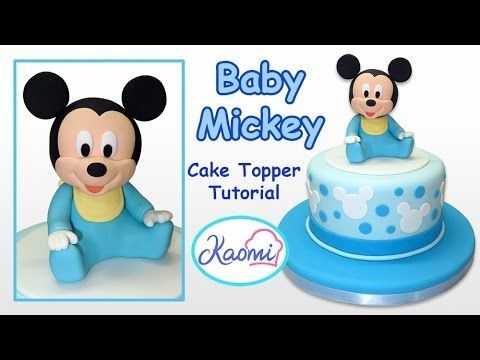 How to make Mickey Mouse Cake Topper Cmo hacer a Mickey Mouse