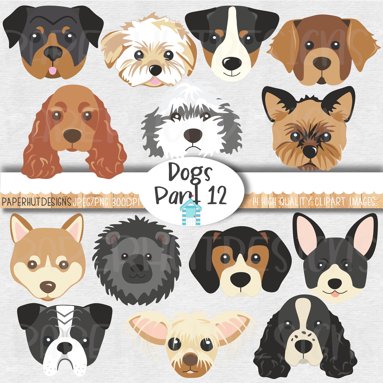 Dog Faces Clipart Dog Clipart Dog Faces Clip Art Dog Clip Etsy Dog Clip Art Dog Face Puppy Clipart
