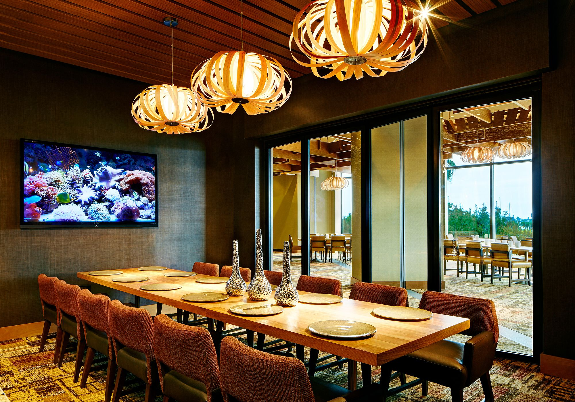 Private Dining room at Marina Kitchen inside the San Diego Marriott