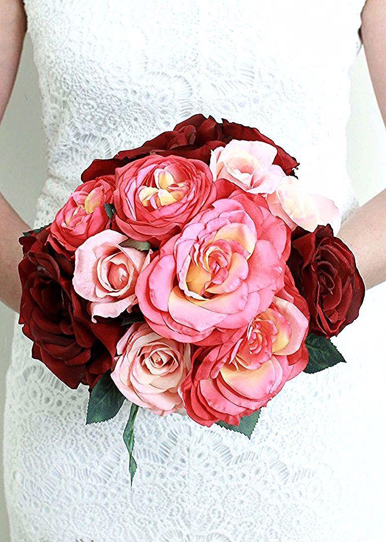 Mazzi Di Fiori Particolari Bouquet Tondo Rose Grandi Rosa Rosse Floral Wreath Floral Flowers