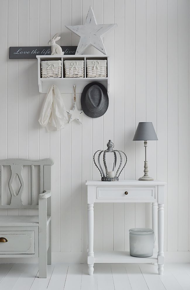 White Small Hallway Table
