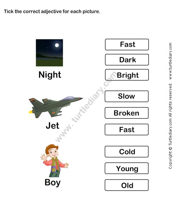 Describing Words Worksheet 13 | Adjectives Worksheets | Kindergarten ...