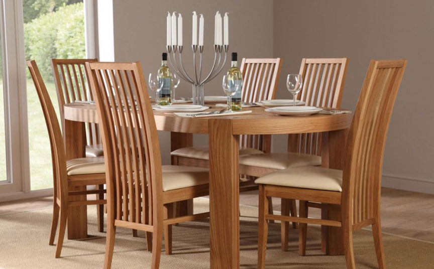 Contemporary Dining Furnitura Oak Dining Room Table And Chairs Glamorous Dining Room Chairs Oak Review