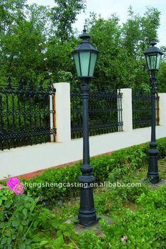 Street Outdoor Garden Antique Cast Iron Lamp Post View Outdoor