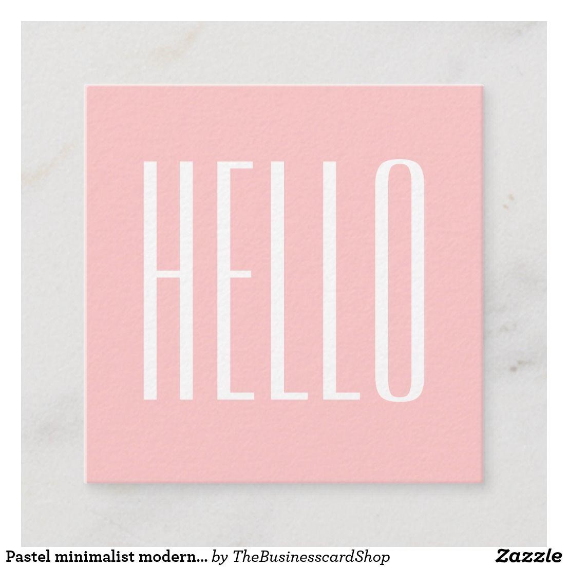 Pastel Minimalist Modern Pink Bold Business Card Zazzle Com