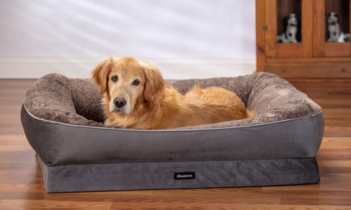 Beautyrest Ultra Plush Cuddler Dog Bed Orthopedic Pet Bed Plush Dog Beds Sleeping Dogs