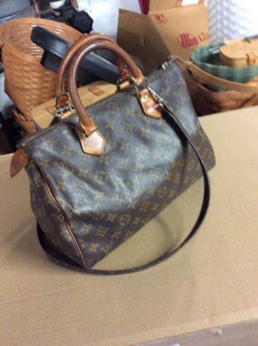 a2cb55936a36 Vintage-Louis-Vuitton-Monogram-Speedy-30-Handbag-Purse-used-FC-892-Authentic