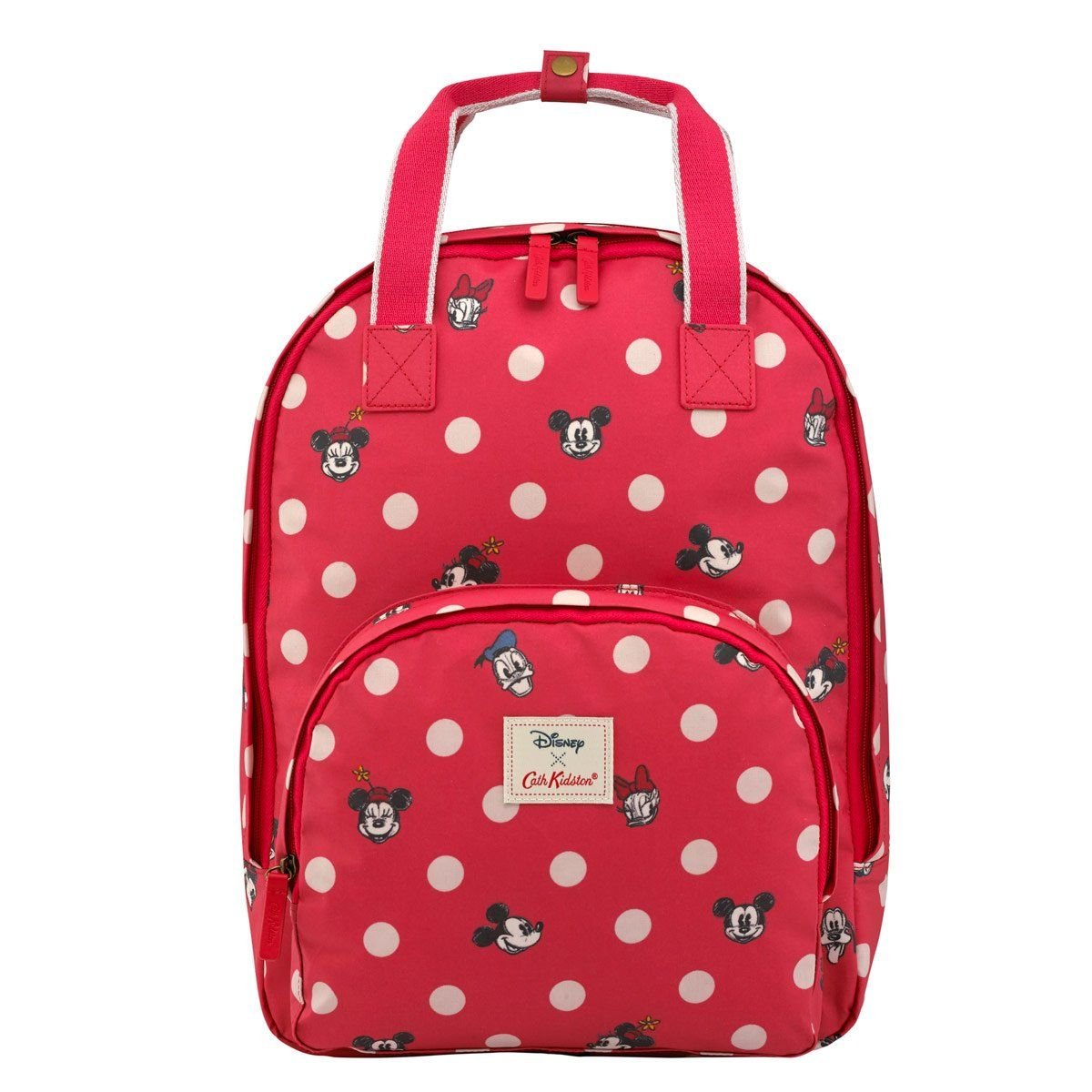 Cath Kidston Disney Mickey and Friends Button Spot Multi Pocket Backpack