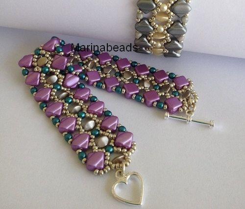 "TUTORIAL ""Pinch pearl"" bracelet"