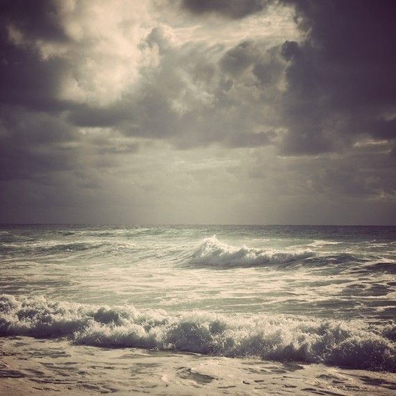 #wall_art $30 Watching storms - Dramatic seascape in moody purple tones - fine art photograph