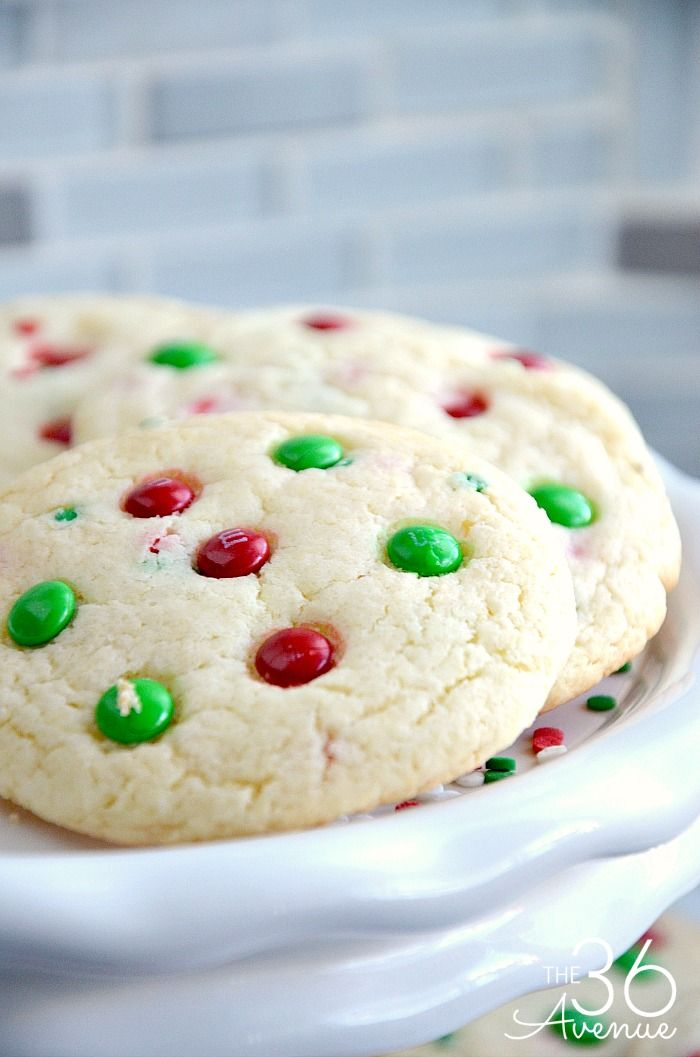 Christmas Cookies Funfetti Cookies Cookie Exchange Easy