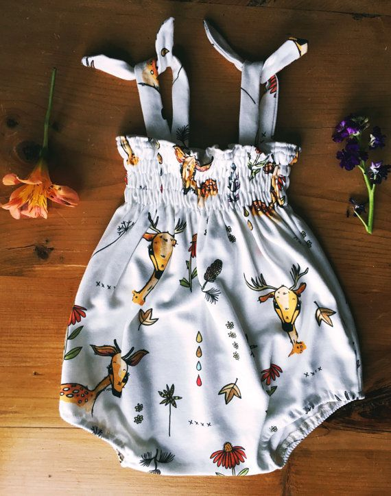 Oh My Deer Romper by MountainSeaBaby on Etsy
