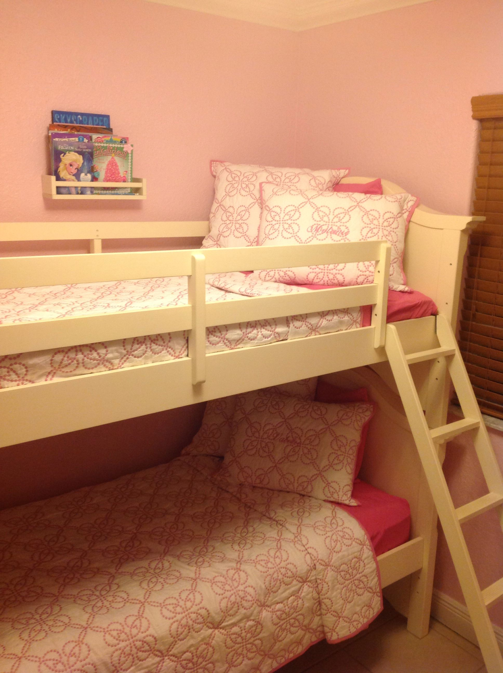 Melanie & Valerie's bunk bed project finally completed!