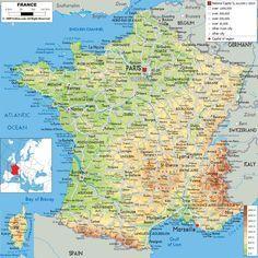 Physical Map Of France Ezilon Maps Michaelsusanno C Roubaix